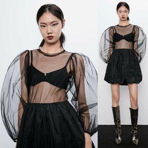 Zara Tulle & Taffeta Short Dress